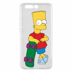 Чехол для Huawei P10 Plus Bart Simpson - FatLine