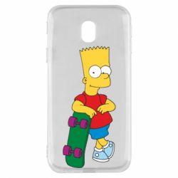 Чехол для Samsung J3 2017 Bart Simpson - FatLine