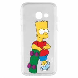 Чехол для Samsung A3 2017 Bart Simpson - FatLine