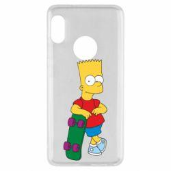 Чехол для Xiaomi Redmi Note 5 Bart Simpson - FatLine