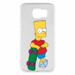 Чехол для Samsung S6 Bart Simpson - FatLine