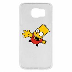 Чехол для Samsung S6 Барт Симпсон