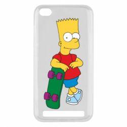 Чехол для Xiaomi Redmi 5a Bart Simpson - FatLine