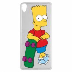 Чехол для Sony Xperia XA Bart Simpson - FatLine