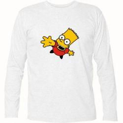 Футболка с длинным рукавом Барт Симпсон - FatLine