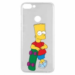 Чехол для Huawei P Smart Bart Simpson - FatLine
