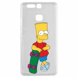 Чехол для Huawei P9 Bart Simpson - FatLine