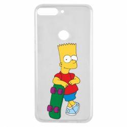Чехол для Huawei Y7 Prime 2018 Bart Simpson - FatLine