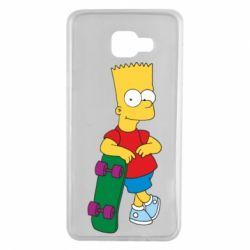 Чехол для Samsung A7 2016 Bart Simpson - FatLine
