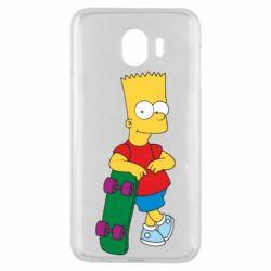 Чехол для Samsung J4 Bart Simpson - FatLine