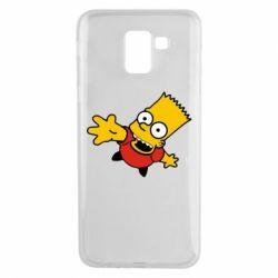 Чехол для Samsung J6 Барт Симпсон