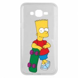 Чехол для Samsung J7 2015 Bart Simpson - FatLine