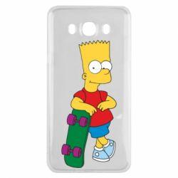 Чехол для Samsung J7 2016 Bart Simpson - FatLine