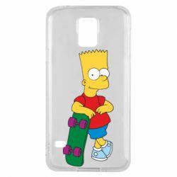 Чехол для Samsung S5 Bart Simpson - FatLine