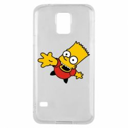 Чехол для Samsung S5 Барт Симпсон