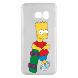 Чехол для Samsung S6 EDGE Bart Simpson - FatLine