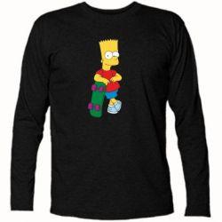 Футболка с длинным рукавом Bart Simpson - FatLine