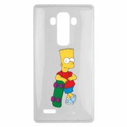 Чехол для LG G4 Bart Simpson - FatLine