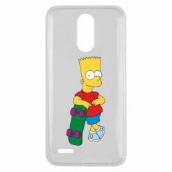 Чехол для LG K10 2017 Bart Simpson - FatLine