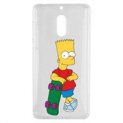Чехол для Nokia 6 Bart Simpson - FatLine