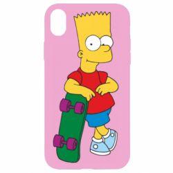 Чехол для iPhone XR Bart Simpson - FatLine