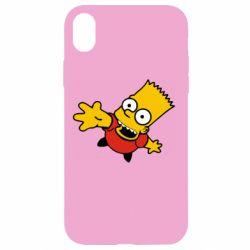 Чехол для iPhone XR Барт Симпсон