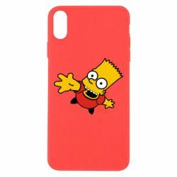 Чехол для iPhone Xs Max Барт Симпсон