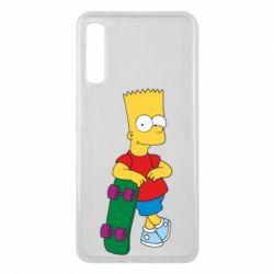 Чехол для Samsung A7 2018 Bart Simpson - FatLine