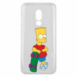Чехол для Meizu 16 Bart Simpson - FatLine