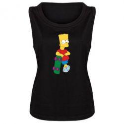 Женская майка Bart Simpson - FatLine