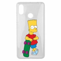 Чехол для Xiaomi Mi Max 3 Bart Simpson - FatLine