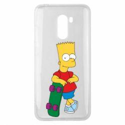 Чехол для Xiaomi Pocophone F1 Bart Simpson - FatLine