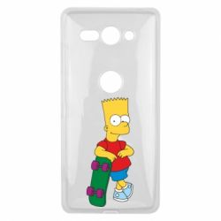 Чехол для Sony Xperia XZ2 Compact Bart Simpson - FatLine