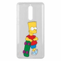 Чехол для Nokia 8 Bart Simpson - FatLine