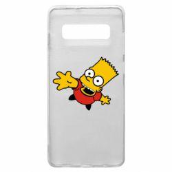 Чехол для Samsung S10+ Барт Симпсон