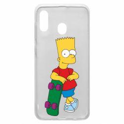 Чохол для Samsung A20 Bart Simpson