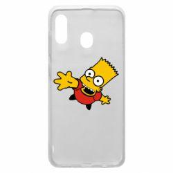 Чехол для Samsung A20 Барт Симпсон