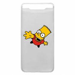 Чехол для Samsung A80 Барт Симпсон