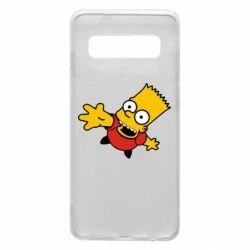 Чехол для Samsung S10 Барт Симпсон