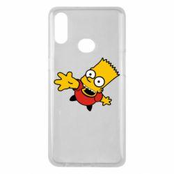 Чехол для Samsung A10s Барт Симпсон