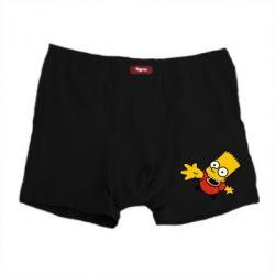 Мужские трусы Барт Симпсон