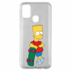 Чохол для Samsung M30s Bart Simpson