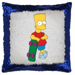 Подушка-хамелеон Bart Simpson