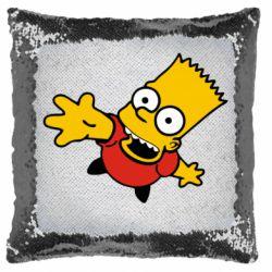 Подушка-хамелеон Барт Симпсон