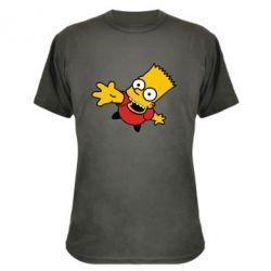 Камуфляжная футболка Барт Симпсон - FatLine