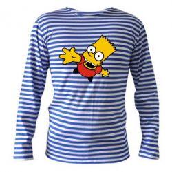 Тельняшка с длинным рукавом Барт Симпсон - FatLine