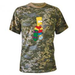 Камуфляжная футболка Bart Simpson - FatLine
