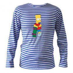 Тельняшка с длинным рукавом Bart Simpson - FatLine