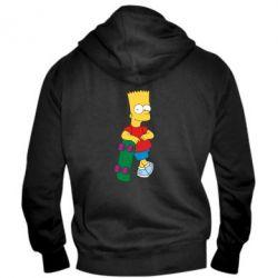 Мужская толстовка на молнии Bart Simpson - FatLine