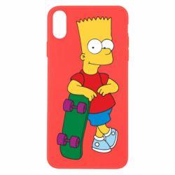 Чехол для iPhone X Bart Simpson - FatLine